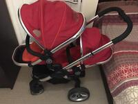 Icandy Peach Blossom Tomato Red Double Pushchair