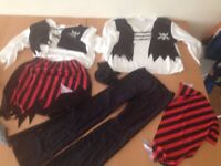 Kids girls Pirate Fancy Dress Costume Party World Book Day Outfit x2