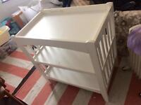 Baby items! Changing unit, bumper, swaddle,