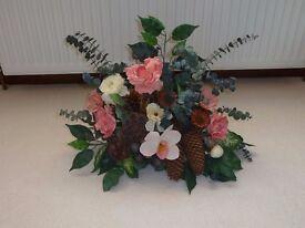 Beautiful Silk Flower Arrangements & Wall Garlands