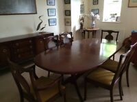 REDUCED Mahogany G Plan 1960's extending dining table with 6 chairs (2 carvers)