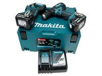 Makita DLX2173TJ 18V Cordless Brushless Kit DHP459 Combi Drill DTD153 Impact Driver 2x 5Ah Batteries