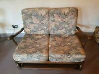 Ercol Old Colonial 3 piece suite. 2 seater and 2 armchairs