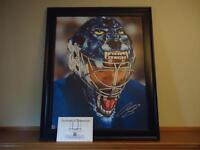 Hockey Curtis Joseph Autographed Framed Canvas W/COA!