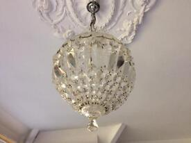 Crystal glass hanging chandelier