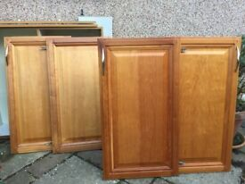 10 Lovely real Solid Cherry Wood cabinet doors. Ideal for your DIY kitchen or storage cupboards.