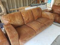 3 Piece Suite Tan Morale Sofa