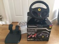 PS and Playstation steering wheel and foot pedals
