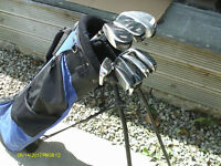 LADIES/TALL JUNIOR GRAPHITE GOLF CLUBS IN STAND BAG