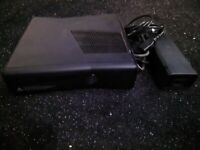 Xbox 360 console black 250gb with kinect + game