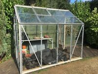 Greenhouse 8x6x7ft Aluminium frame - good condition. FREE if you dismantle and collect