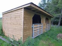 RE-ADVERTISED Pony Horse field shelter with tack/feed room