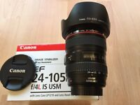 Canon 24-105 IS L lens in Great condition and origonal box