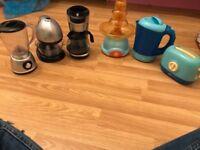 Minnie Mouse tea set/ huge food set/ kitchen set toaster kettle coffee machine