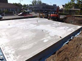 Groundworks contractors, builders, concrete foundations, house extensions, renovation contractor.