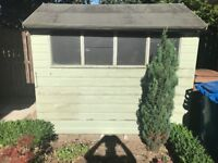 Garden Shed - 6ft wide x 8ft long with guttering for rain water collection