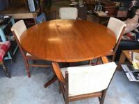 Mid century table and chairs Cotswold School Gordon Russell by Lesley Bruce