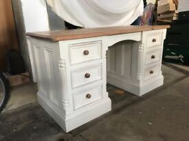 Shabby Chic Dressing Table / Solid Pine Desk - Beautifully Renovated