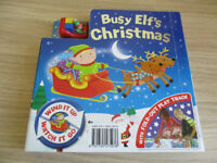 Busy Elfs Christmas Book With Fold Out Track And Wind Up Toy
