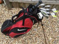Left Hand Nike Slingshot Golf Clubs (3-SW) + putter, bag & brolley in great condition!