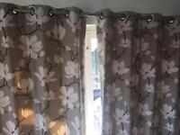 Eyelet lined and interlined full length bespoke curtains