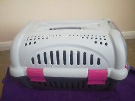 VGC Cat Carrier Pink/Grey/Black