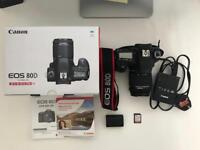 Canon 80D with 18-55 Kit Lens. Only bought on 19th August 2017