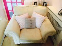 Gold draylon armchair