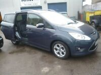 Ford GRAND C-MAX Zetec TDCI 115,7 seat MPV,FSH,twin sliding doors,runs and drives well,only 50,000