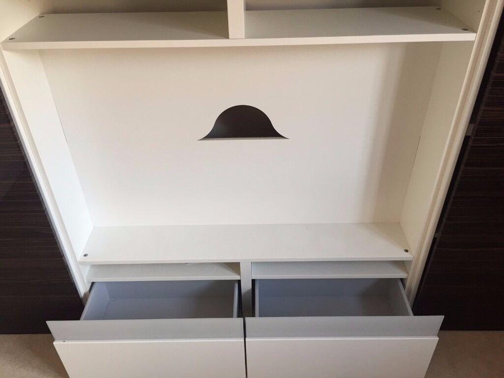 Ikea Besta Boas Tv Cabinet With Surrounding Besta Cupboards And  # Meuble Tv Besta Ikea