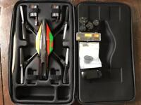Parrot AR Drone 2.0 w/ Unofficial Carry case, additional battery, repair tools and spare parts