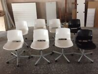 white swivel chairs