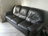 3 piece suite leather