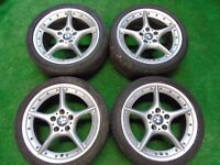 """GENUINE BMW STAGGERED SPLIT RIM 18"""" ALLOY WHEELS WITH TYRES"""