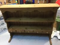 Pine waxed dresser top with spice drawers - great condition, ideal for up cycling