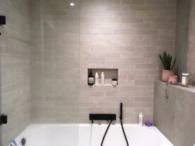 Designer Ivory Textured Tiles (leftover from bathroom refurbishment)