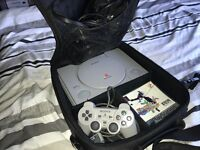 PlayStation 1, carry bag, controller, track & field