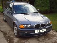BMW 320d SE touring estate, 2000 reg, diesel, mot till feb 2018, no advisories
