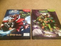 TMNT Busy Book and Avengers Busy Book