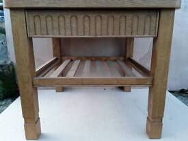 Hand Made Oak Coffee Table with Drawer