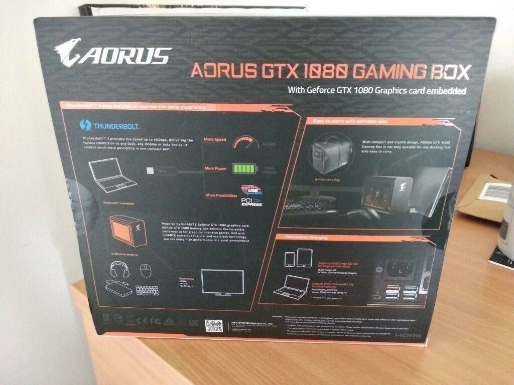 Gigabyte AORUS Geforce Nvidia GTX 1080 Gaming Box Thunderbolt 3 GPU BNIB |  in Yate, Bristol | Gumtree