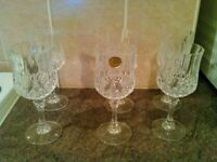 6 crystal glasses