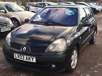 Renault Clio 1.4 2003 + 12 MONTHS MOT + LOW 52,000 MILES + DRIVES SUPERB