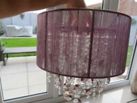 Next Palazzo Matching Ceiling Light Shade and Lamp