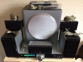 AIVA CX-VX55 DVD 5.1 CINEMA SYSTEM, BUILT IN KARAOKE & DIGITAL RADIO, AUX INPUTS ETC, FULL WORKING.