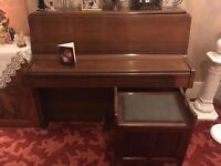 Classic Jermyn upright piano and matching stool for sale - £375 ono