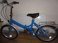 Blue Raleigh Folding Bike