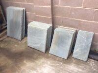 Grey Indian Sandstone Paving Slabs Patio