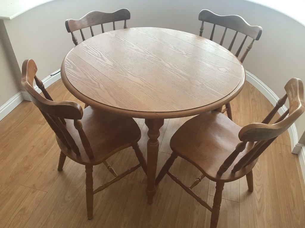 Round Wooden Table And 4 Chairs In Derby Derbyshire Gumtree