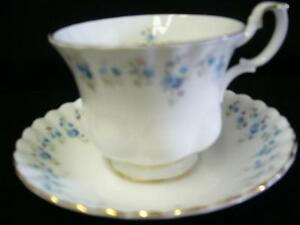 CUPS & SAUCERS MEMORY LANE BY ROYAL ALBERT